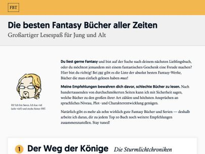 Screenshot of https://fantasybuchtipps.de